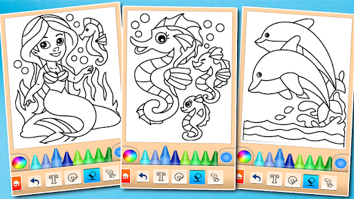 Dolphin and fish coloring book 16.3.2 screenshots 8