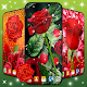 red.rose.flower.petals.leaves.parallax.free.lwp