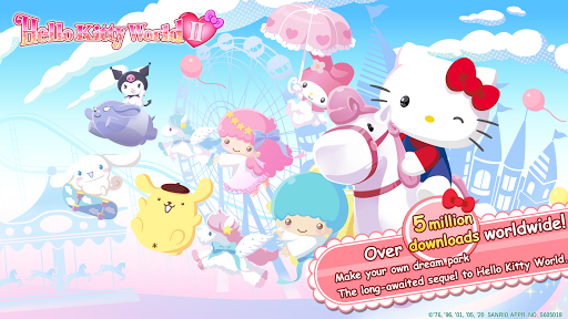 Hello Kitty World 2 Sanrio Kawaii Theme Park Game modiapk screenshots 1