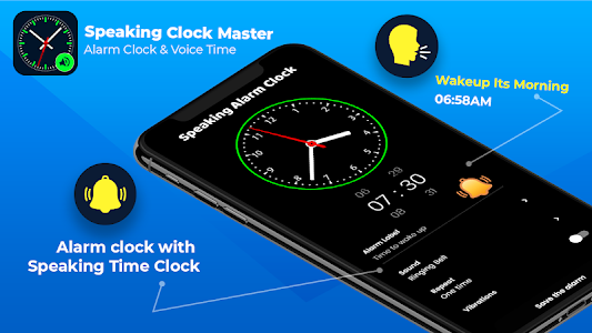 Smart Watch Speaking Clock : Talking Clock Time 4.6