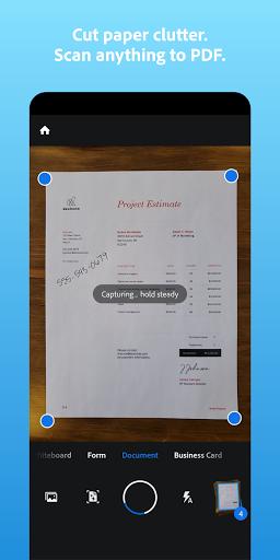 Adobe Scan: PDF Scanner with OCR, PDF Creator  screenshots 1