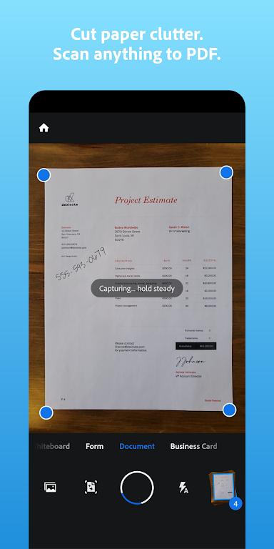 Adobe Scan: PDF Scanner with OCR, PDF Creator  poster 0