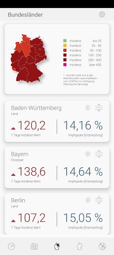 Infekt-Info Fallzahlen Inzidenz Impfungen im Blick modavailable screenshots 2