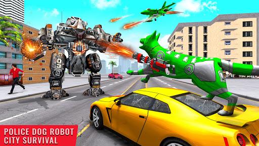 Police Dog Transform Car Robot Shooting Robot Game 1.5 screenshots 1
