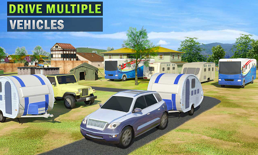 Camper Van Truck Simulator: Cruiser Car Trailer 3D screenshots 2