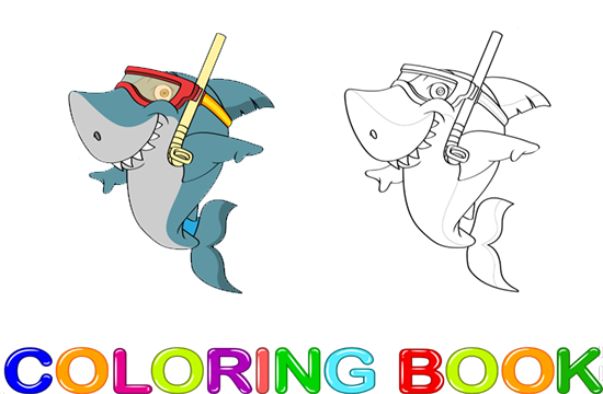 Coloring Babay Shark Cartoon
