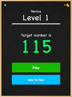Numbers Game Math Brain Puzzle