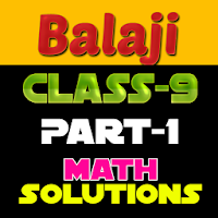9th class math solution in hindi Balaji part1