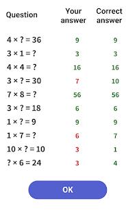 Multiplication tables – Math learning app Apk 4