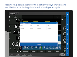 HAMILTON-C6 ventilator and patient simulation