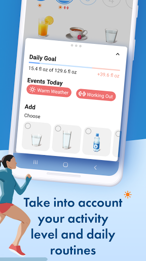 Water tracker PRO. Drink water reminder. Hydration android2mod screenshots 5