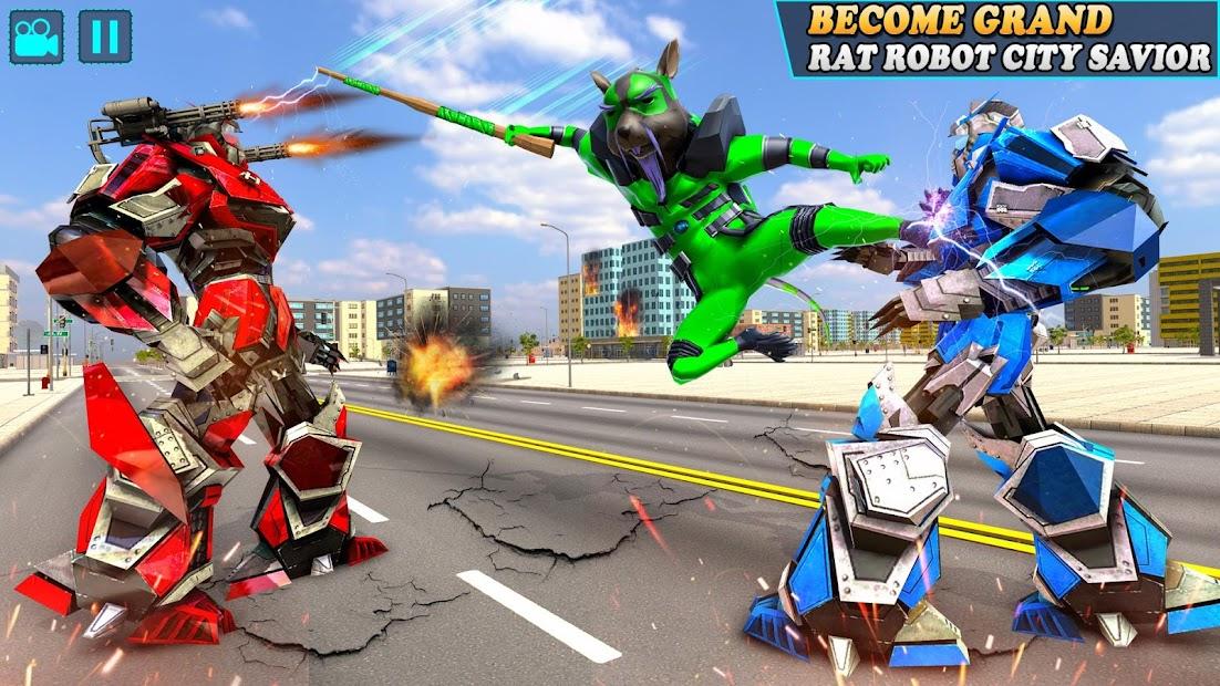 Rat Robot Transforming Games: Robot Car Games 2021