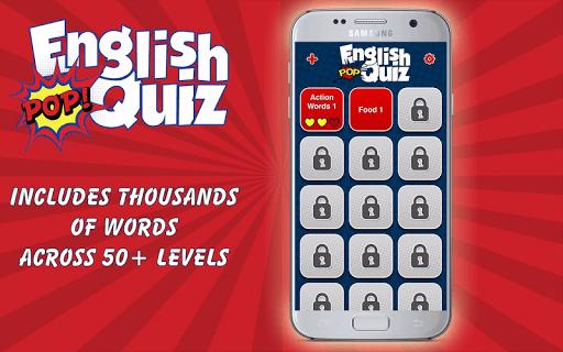 english vocabulary pop quiz screenshot 1