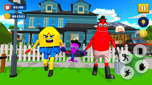 Sponge Family Neighbor 4: Scary Escape 3D Game  screenshots 2
