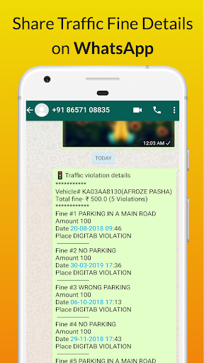 Bangalore Traffic Challan/Fine Checker apktram screenshots 5