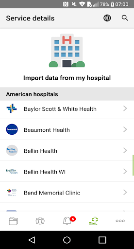 Andaman7 - Your Personal Health Record 3.6.4 Screenshots 6