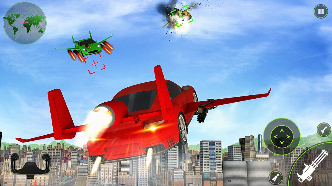 إطلاق النار على السيارة الطائرة: محاكاة الطيران ف