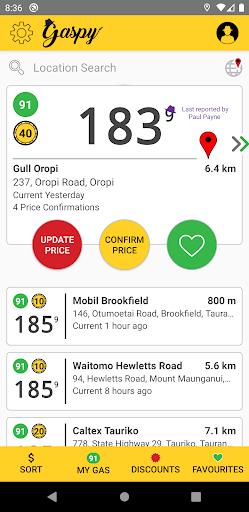 Gaspy - NZ Fuel Prices 3.1.0 screenshots 1