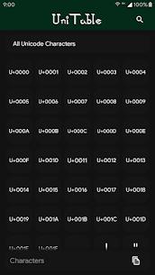 UniTable – Unicode Character Map 4