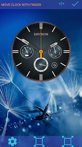 analog clock dayson live wallpaper screenshot 2