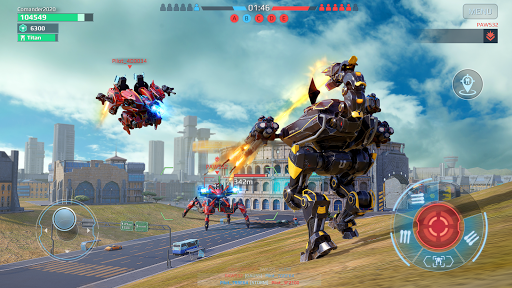 Code Triche War Robots. Batailles multijoueur tactiques 6v6 APK MOD (Astuce) screenshots 4