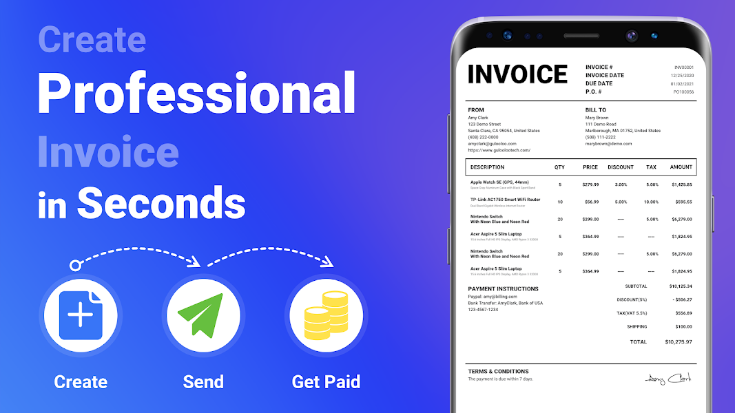 Invoice Maker - Easy Estimate Maker & Invoice App