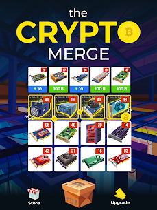 The Crypto Merge Mod Apk- bitcoin mining simulator (Unlimited Money) 6