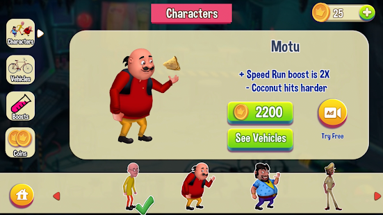 Motu Patlu Game Screenshot