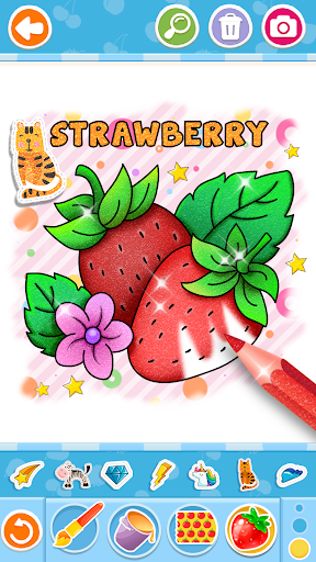 Fruits and Vegetables Coloring Game for Kids  screenshots 1