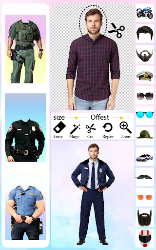 Men Police Suit Photo Editor android2mod screenshots 6