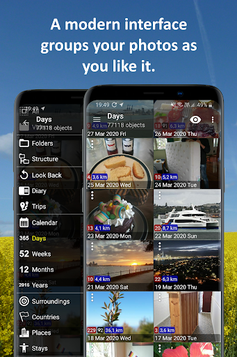 PhotoMap Gallery - Photos, Videos and Trips android2mod screenshots 1