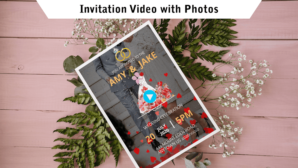 Wedding Card Design & Photo Video Maker With Music  poster 2