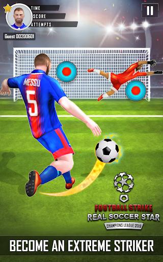 Code Triche Grève du football Real Soccer Star Ligue Champions APK Mod screenshots 1