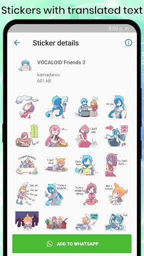 VOCALOID MIKU Stickers for WhatsApp 1.2 screenshots 7