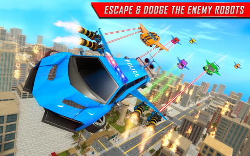 Flying Limo Robot Car Transform: Police Robot Game  screenshots 12
