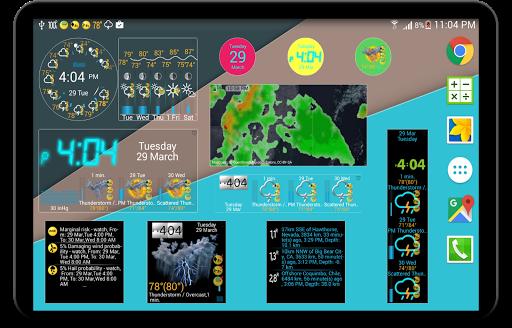 Weather app & widget with barometer: eWeather HDF  Screenshots 24