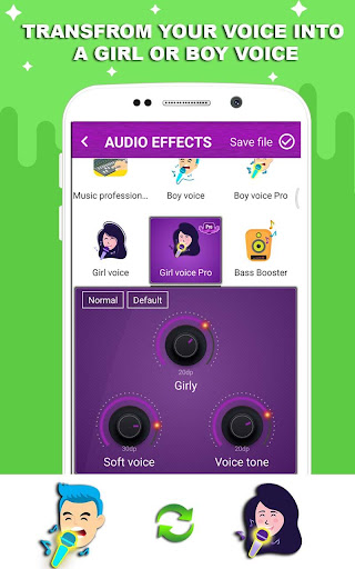 Voice changer - Music recorder with effects  Screenshots 2