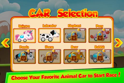 unicorn racing cars animals vroom screenshot 2