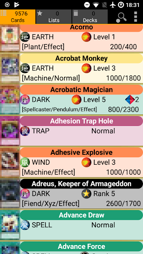Database for Yugioh Cards 3.5 screenshots 1