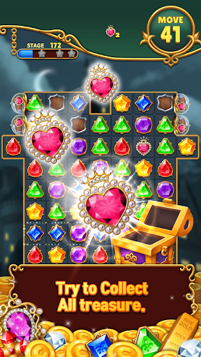 Jewels Mystery: Match 3 Puzzle apkslow screenshots 3
