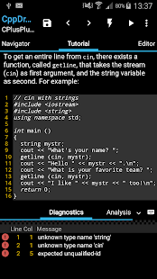 CppDroid - C/C++ IDE 3.3.3 Screenshots 8