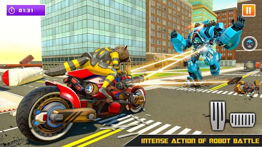 Raccoon Robot Hero Game: Flying Bike Robot Games  Screenshots 10