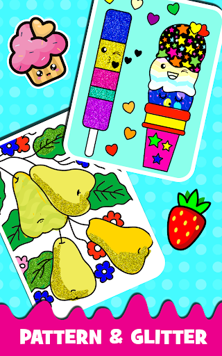 Fruits Coloring book & Food Drawing book Kids Free modavailable screenshots 6