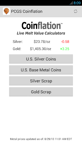 Coinflation - Gold & Silver Melt Values ss1