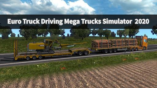 Euro Truck Driving Mega Trucks Simulator  2020 android2mod screenshots 9