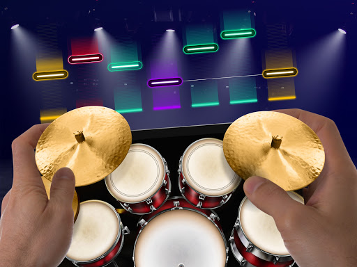Drums: real drum set music games to play and learn apktram screenshots 14