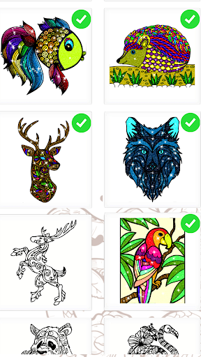 Animals Paint By Number Coloring Book 1.5 screenshots 1