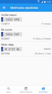 Spanish license plates - date