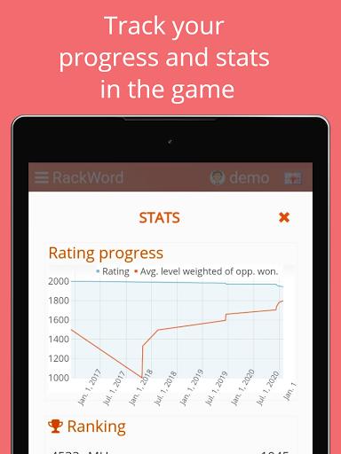 Rackword - Free real-time multiplayer word game screenshots 13