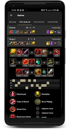 Probuilds for LoL & Wild Rift - LoLegacy android2mod screenshots 3